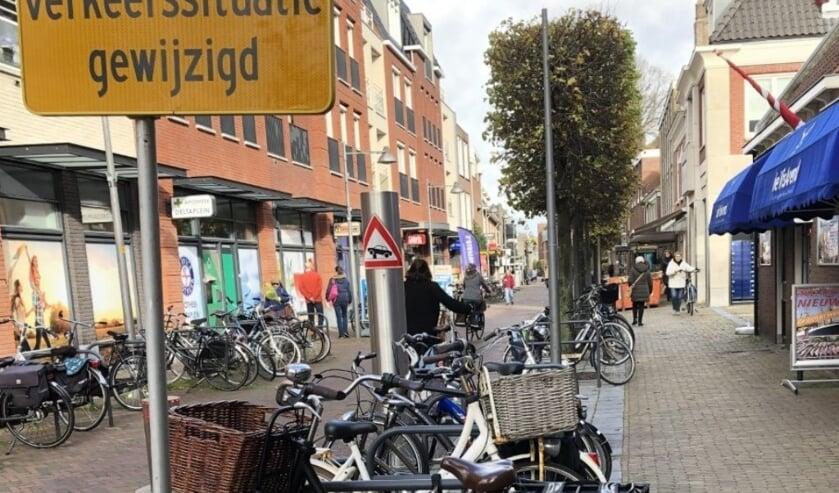 <p>Komend weekend onderzoekt de gemeente het aantal fietsers en voetgangers in het centrum. Foto: VSK</p>