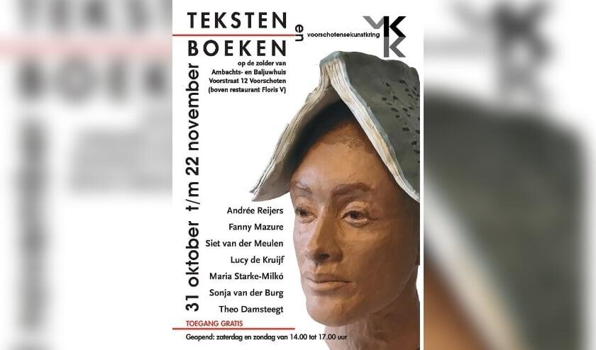 <p>Foto: Met de expositie Teksten en Boeken die van 31 oktober tot en met 22 november op de zolders van het Ambachts- en Baljuwhuis wordt gehouden, slaat de Voorschotense Kunstkring interessante bruggen naar de literatuur. (Foto: PR) </p>