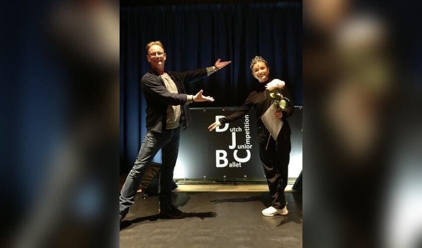 <p>Sara van der Elst is leerlinge van Balletstudio Giselle. Afgelopen weekend won zij de Dutch Junior Ballet Competition. Foto: Giselle</p>