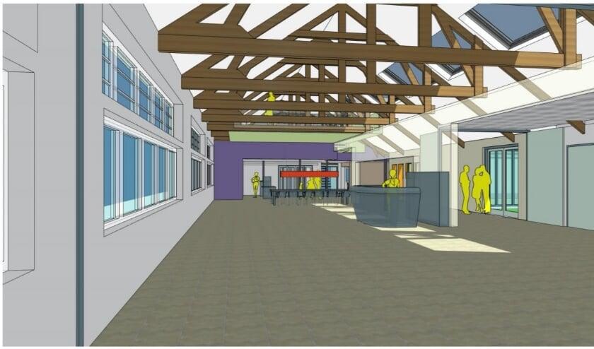 <p>artistimpression IN-EX Architecten bibliotheek na de verbouwing</p>