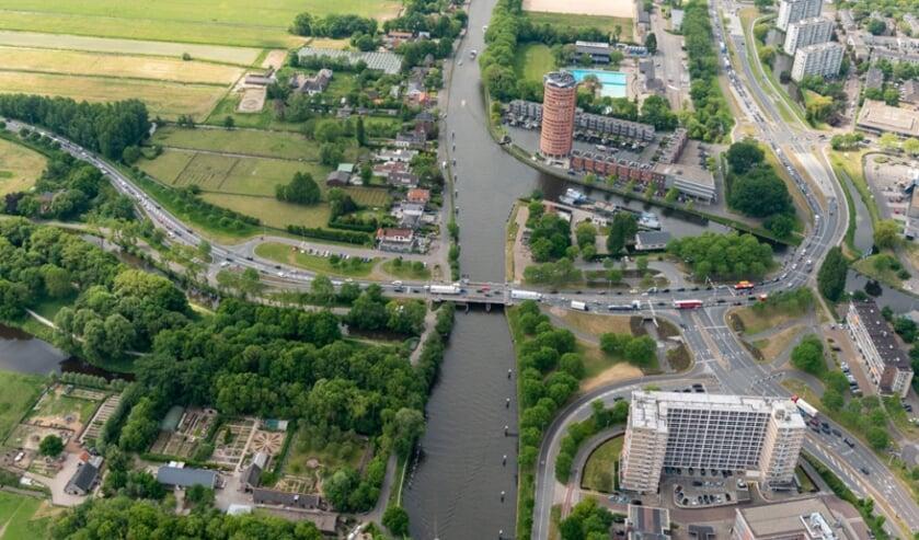 Het Lammenschansplein. Foto: Rijnlandroute.nl