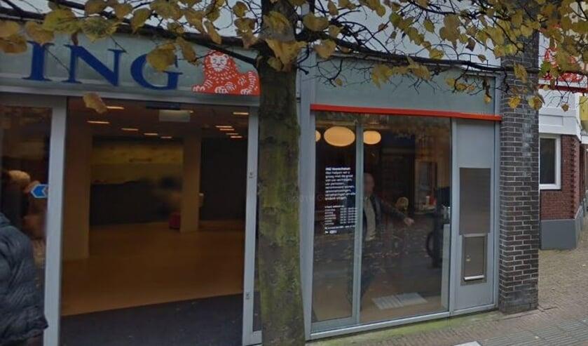 Het ING-kantoor aan de Schoolstraat gaat niet meer open. Foto: PR