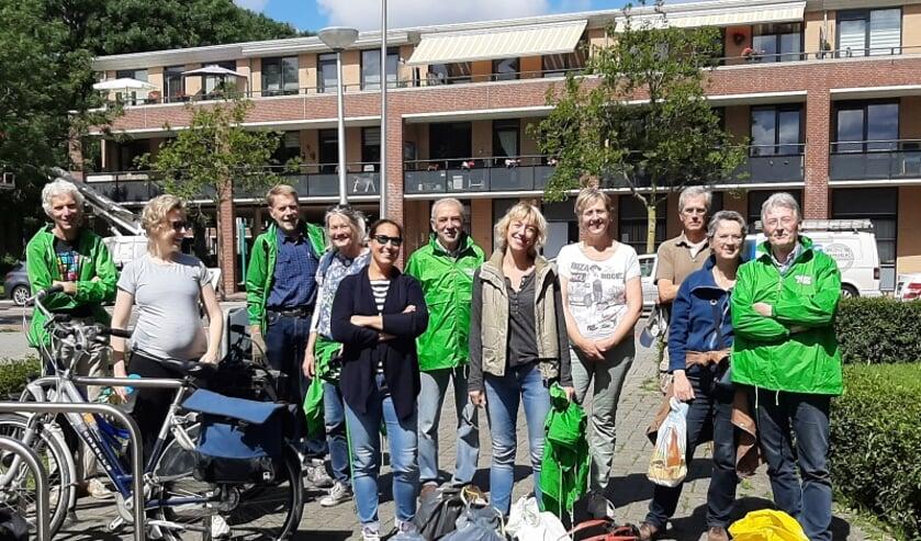 GroenLinks tijdens eerder opruimactie in de Vlietwijk