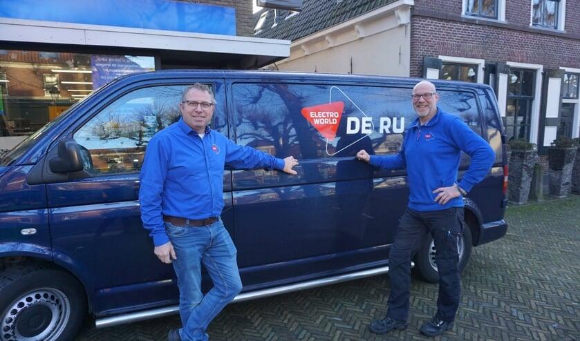 <p>Gerard de Ru en Remko Meijer startten begin dit jaar met De Ru Service. Het blijkt een gouden greep. Foto: VSK </p>