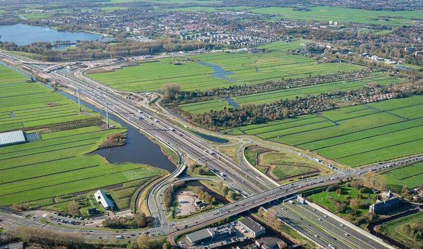 <p>Wegwerkzaamheden op de A4 voor de aanleg van de Rijnlandroute</p>