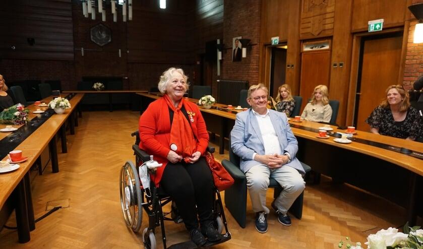 <p>Een koninklijke onderscheiding voor Helga Dulfer. Foto: VSK</p>
