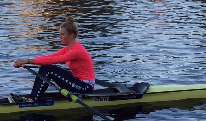 <p>Voorschotense Karolien Florijn werd met haar afgelopen zondag wereldkampioen in de vier zonder. Foto: Marleen Persoon</p>