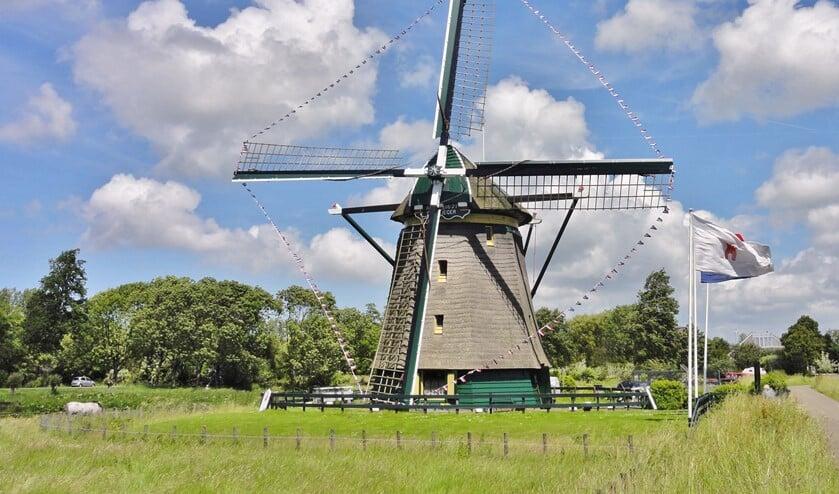Molen De Vlieger in Voorburg (archieffoto).