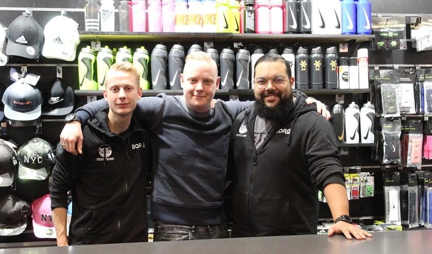 Het team van Sport 2000 Nootdorp: Nathan Kroeze, Jeroen Kroeze en Julio Gomes.
