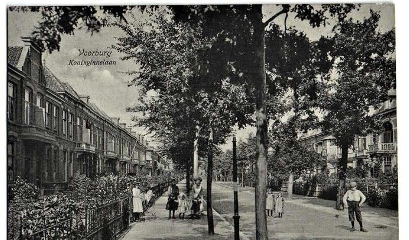De Koninginnelaan in Voorburg omstreeks 1910.