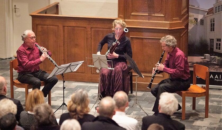 Voorproefje op het festival in 2018 met Trio Tre Canett: Jan Jakob Mooij en Fred Ruoff op hobo en Nicole Freling op fagot (foto: Hilbert Krane).