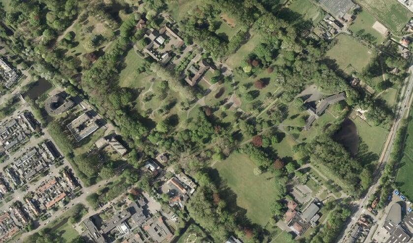 <p>Het Schakenbosch-terrein vanuit de lucht (foto: gemeente LV).</p>