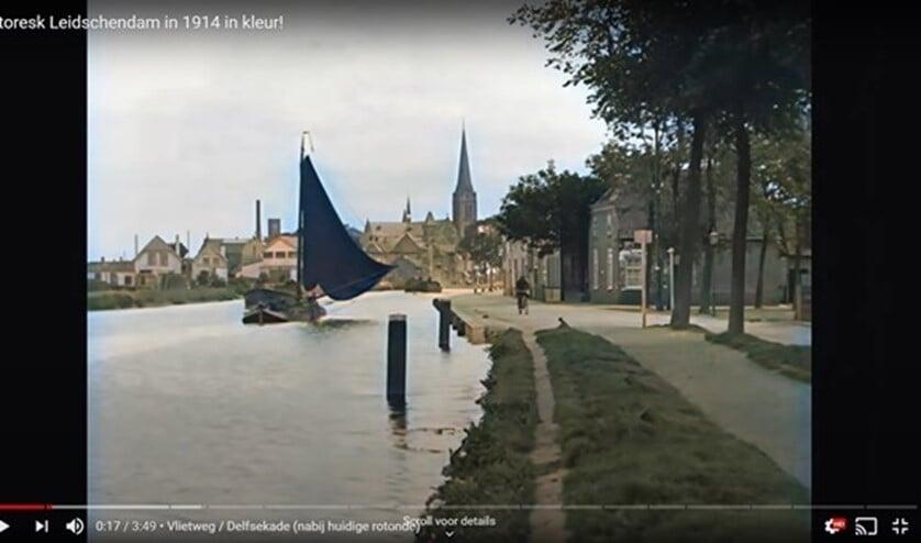 <p>Oude filmbeelden van Leidschendam (toen nog Veur) in 1914, ingekleurd door Ricks Film Restoration.</p>
