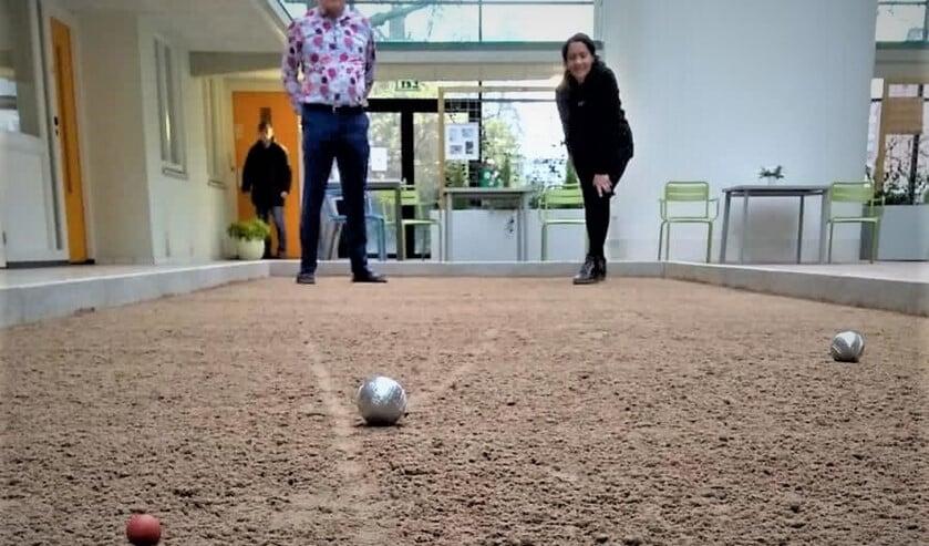 <p>De nieuwe koersbal- en jeu-de-boulesbaan in het Mariënpark (foto: pr).</p>