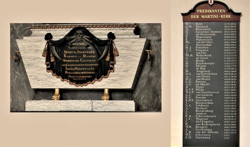 <p>Het bord waarop in de Oude Kerk in het centrum van Voorburg alle namen van de predikanten van 1576 tot heden in mooi geschilderde letters staan, intrigeerde emeritus predikant P&eacute; Wapenaar.</p>