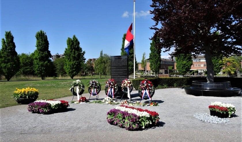Het monument in Park Sijtwende (foto: Ap de Heus).