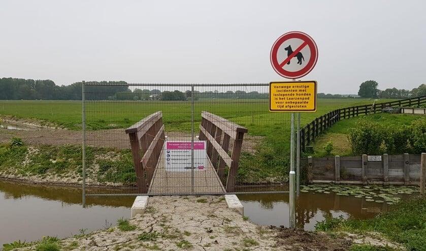 Eerder sloot aannemer Dijkencombi het Laarzenpad in de Nieuwe Driemanspolder af voor wandelaars en honden.