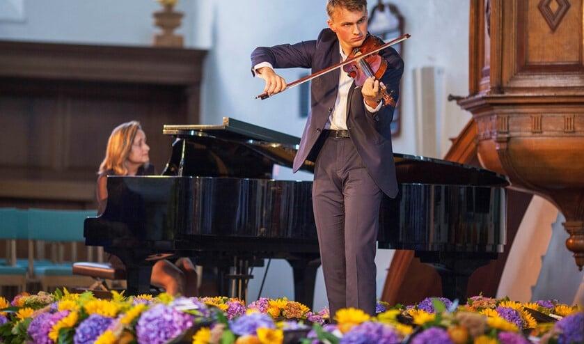 Concert met jeugdmusici in de Oude Kerk tijdens een vorige editie van het Huygens Festival (foto: Hilbert Krane).