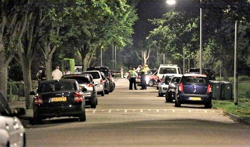 Veel politie op de been in september 2014 in Leidschendam na de schietpartij (foto: Sander Paardekooper/Regio15).