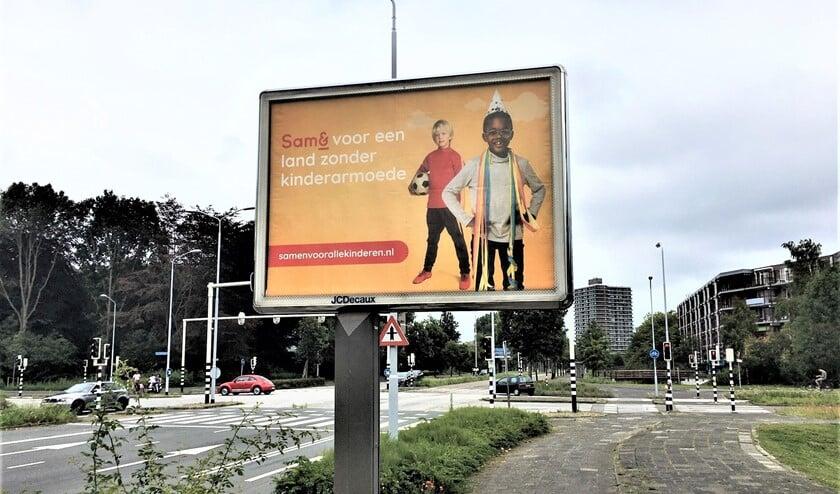 Ook in Leidschendam-Voorburg staan grote billboards waarop melding gemaakt wordt van de actie van Sam&.