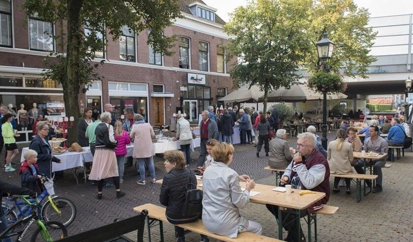 Het stadsontbijt is een van de onderdelen die wel plaatsvinden, uiteraard wel iedereen op meer afstand van elkaar (archieffoto).