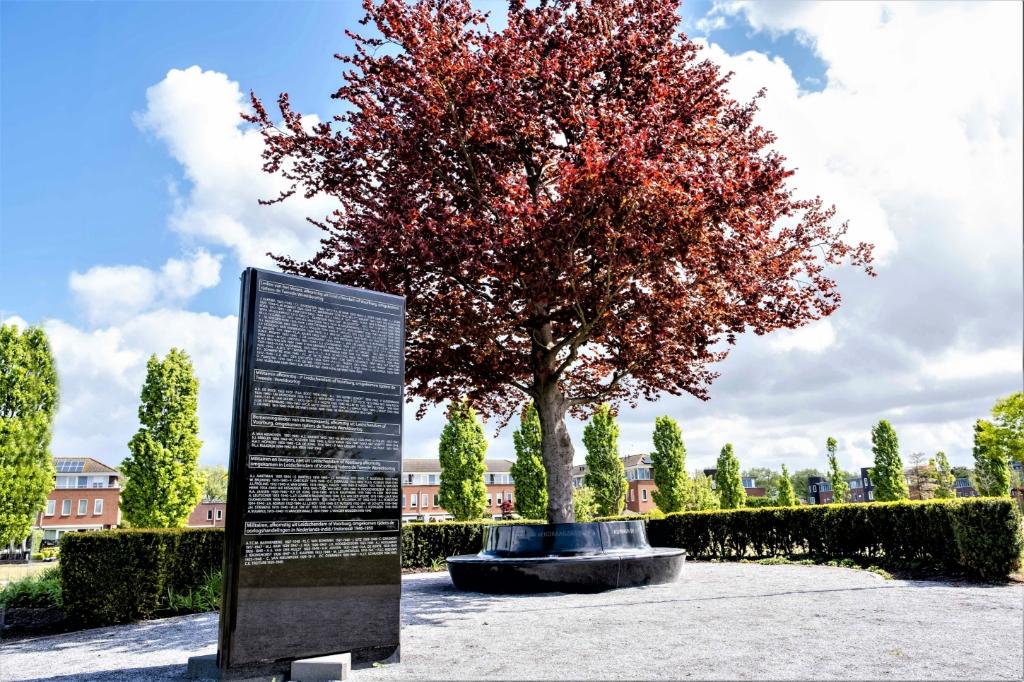 Bij het monument voor Vrede en Veiligheid in Park Sijtwende in Voorburg wordt een besloten herdenking gehouden (foto: gemeente LV).  © Het Krantje