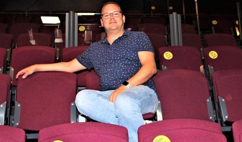 <p>Oscar van Schijndel in Het Veur Theater (foto: DJ).</p>