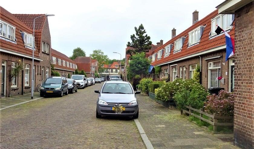 Straat in het Oranjekwartier in Voorburg (archieffoto Ap de Heus).