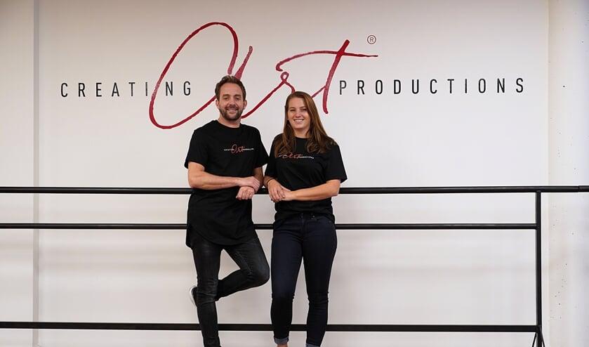 Joost Verhaar en Mariëlle Lucas van Creating Art Productions. (Foto: Charlotte van Beem)