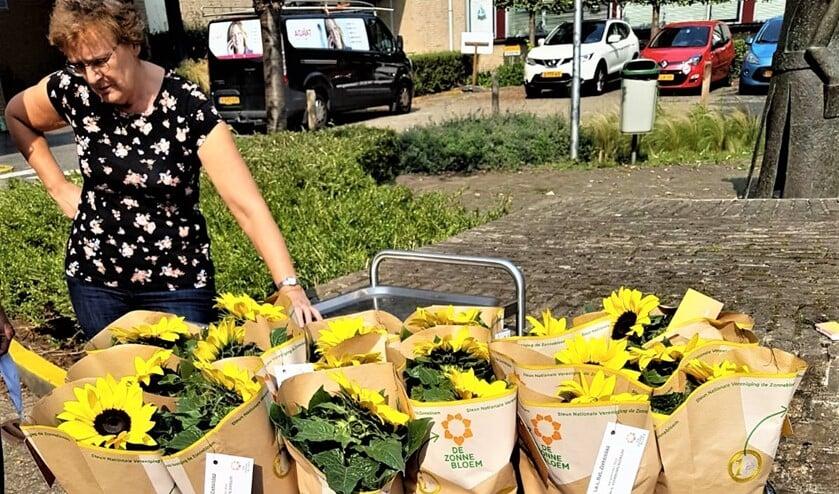 Ook in deze coronatijd wil De Zonnebloem landelijke Ziekendag in de Mantel niet onopgemerkt voorbij laten gaan en daarom heeft zij voor alle bewoners een zonnebloemplantje gebracht.