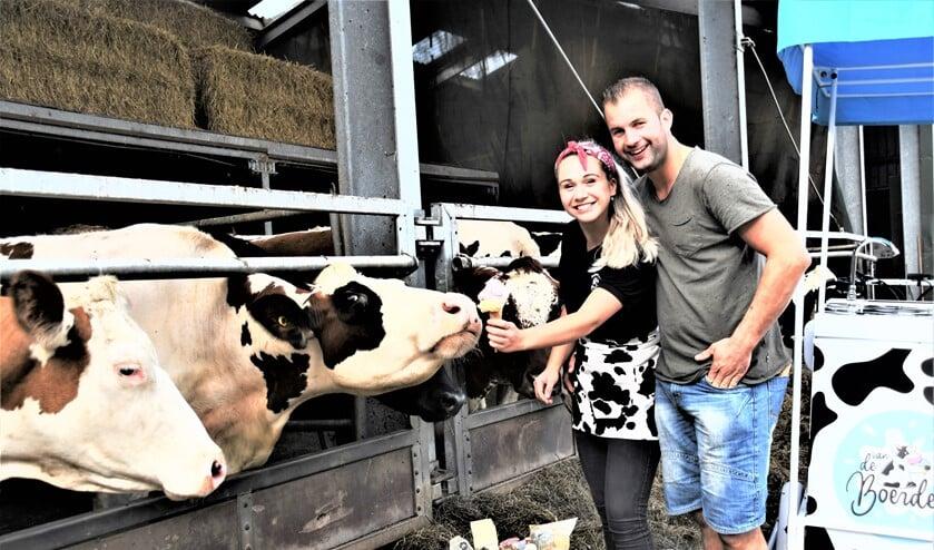 Rick van Boheemen en Demi Olsthoorn zijn samen met de ouders van Rick de Ondernemer van het jaar 2020 geworden (foto: PR).