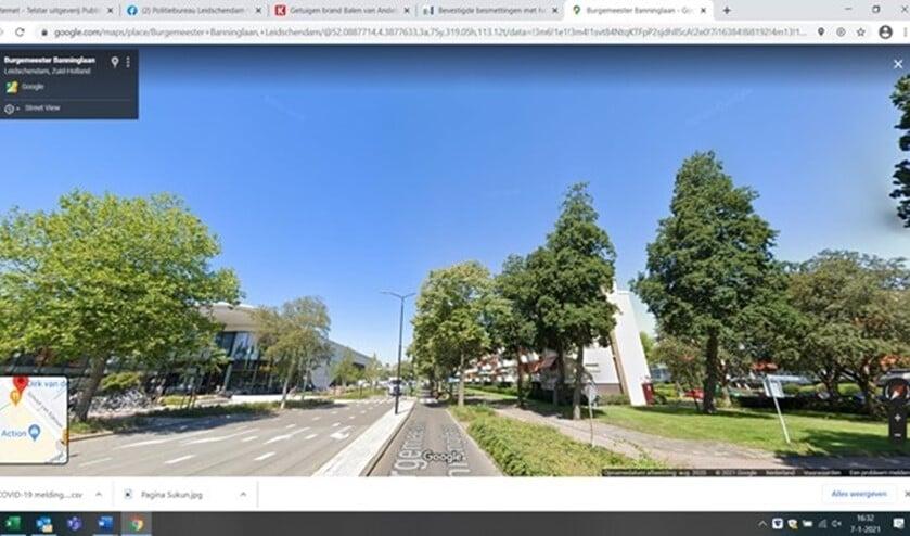 <p>De Burgemeester Banninglaan (foto: Google Streetview).</p>