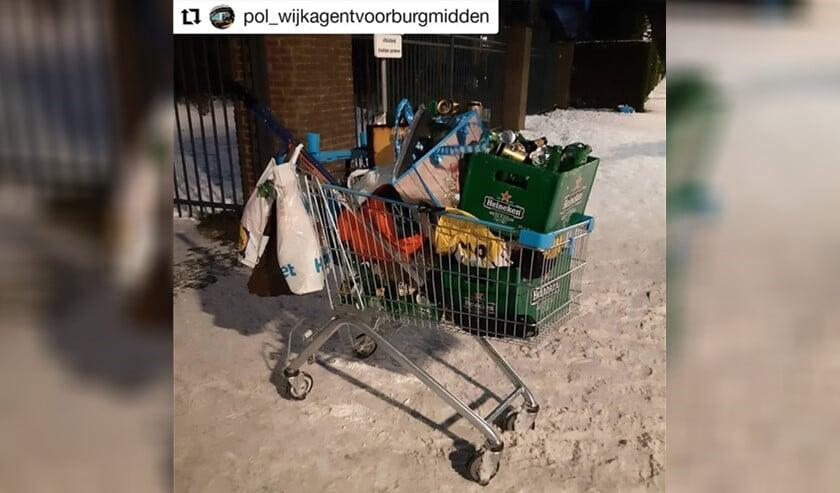 <p>De restanten van het feestje (foto: politie LV).</p>