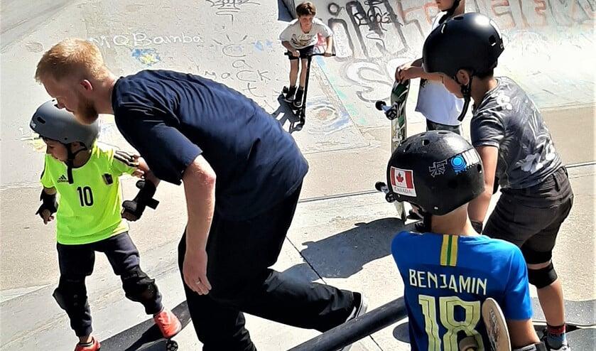 <p>Er worden onder meer activiteiten met skateboards georganiseerd in het Skatepark Noordsingel (archieffoto SenW).</p>