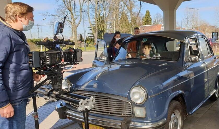 <p>Marijn op de set voor Veronica.</p>