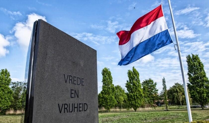 Het Monument voor Vrede en Vrijheid in het Sijtwendepark (foto: Michel Groen).