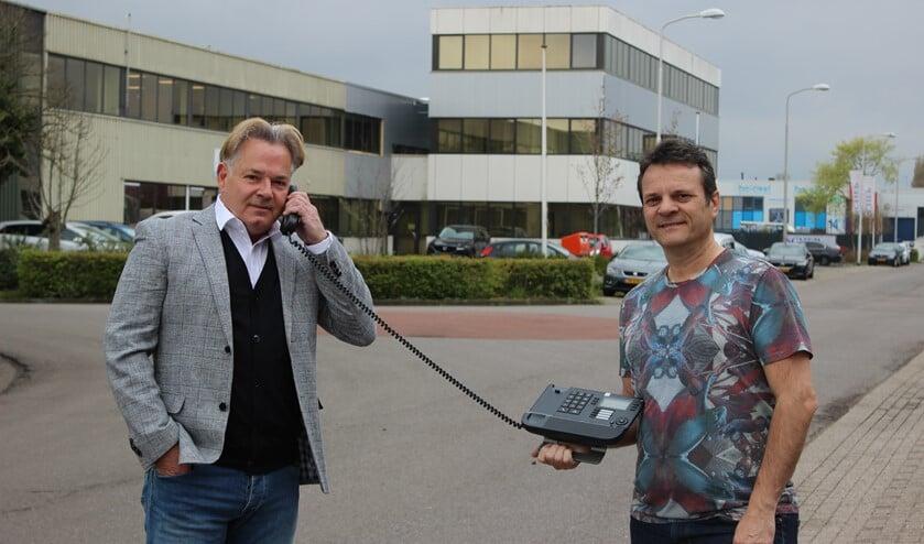 <p>Bondy Verkijk (links) en Paul Wijnants opereren vanaf bedrijvenpark de Boezem in Pijnacker.</p>