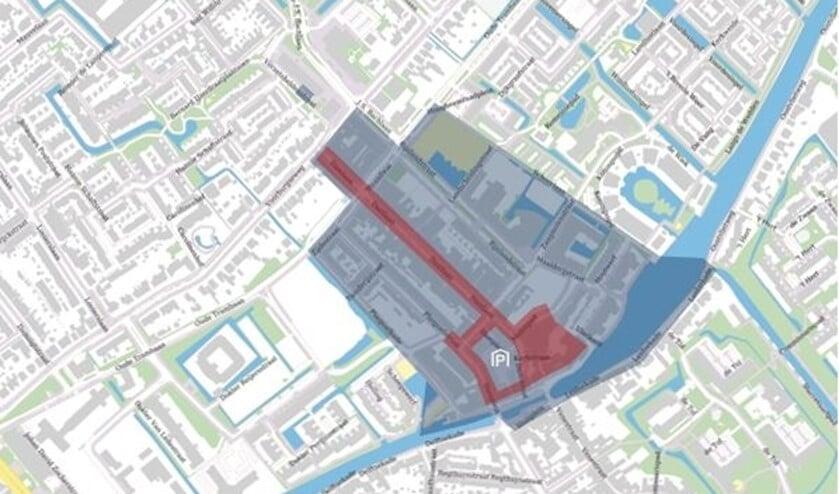 <p>Kaartje blauwe zone (afbeelding: Marije de Vries).</p>