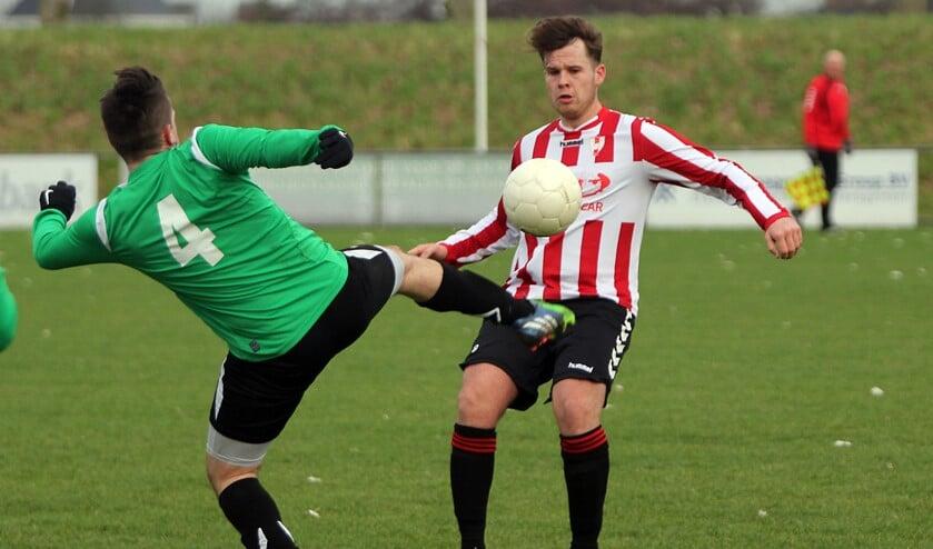 Hekelingen leverde twee kostbare punten in tegen Energie Boys. Foto Peter de Jong.