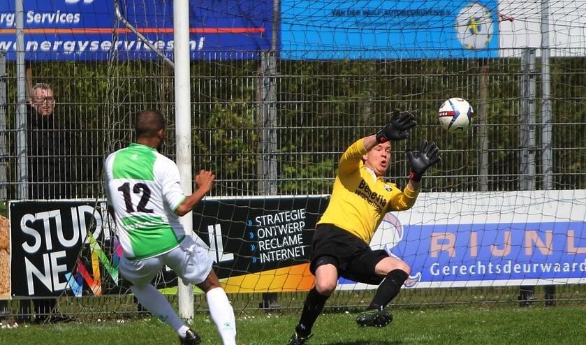 Jazzy Adams scoorde zaterdag twee keer voor het team van Peter Wubben. Fotografie: Peter de Jong