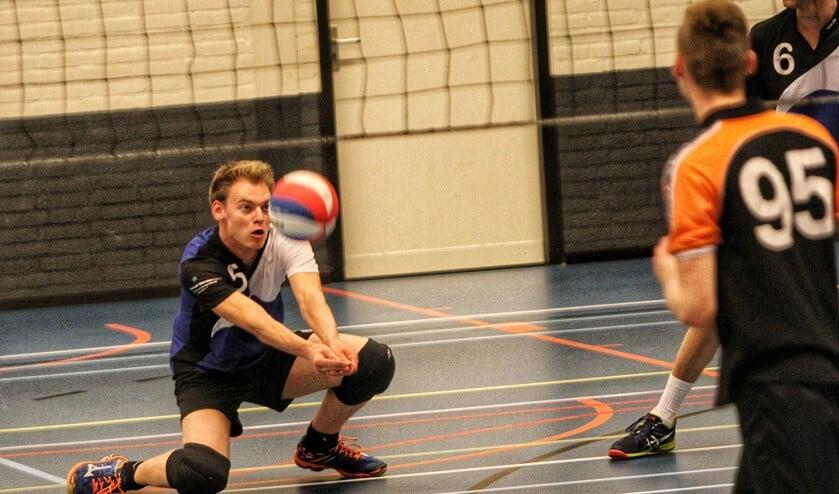De heren van Bernisse deden het zaterdag uitstekend en hielden Volley Zuid van het kampioenschap. Foto: Peter de Jong