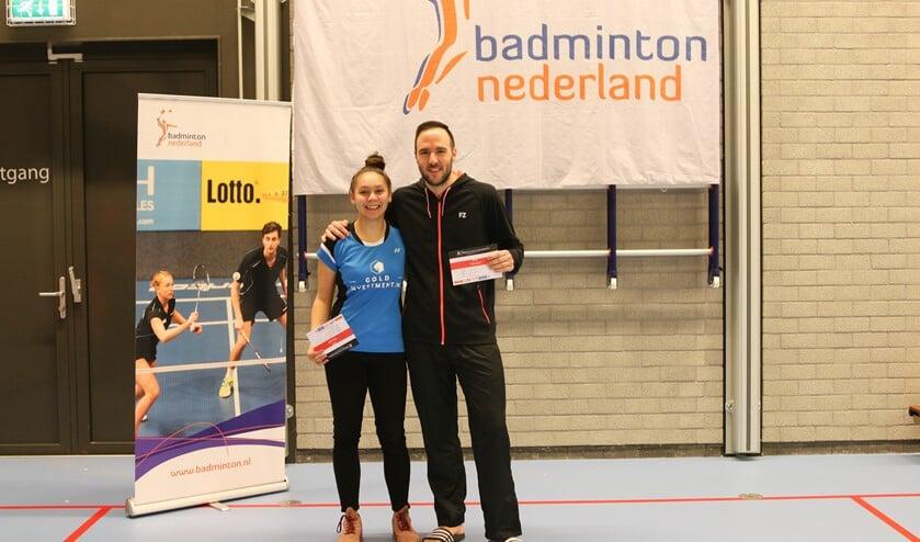 Winnaars Michiel Kruijt en Jaymie Laurens tijdens de prijsuitreiking.