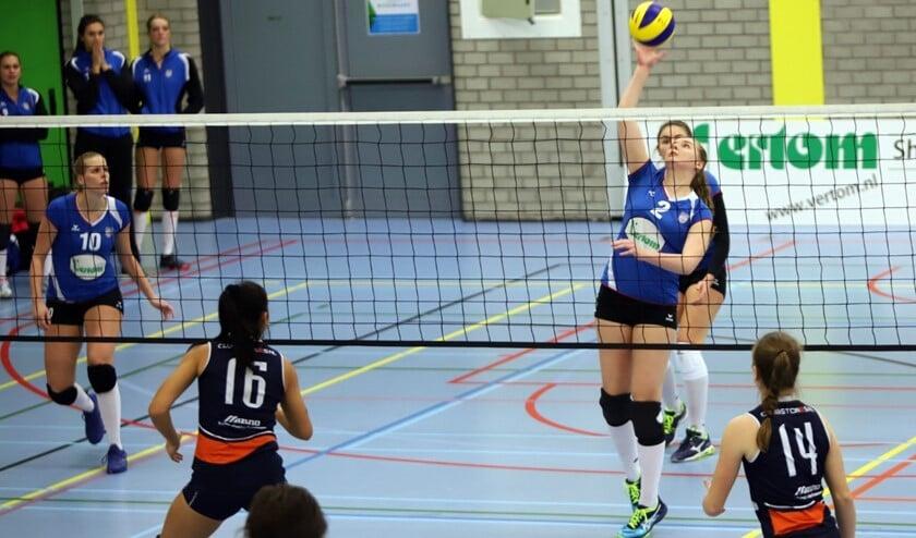 De dames van Spivo kwamen zaterdagavond net iets tekort in het duel mete Next Volley Dordrecht.