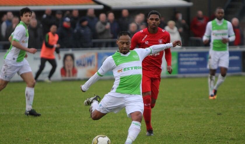 Spijkenisse moest zaterdag in de laatste minuut nog de gelijkmaker incasseren tegen Jong FC Twente.