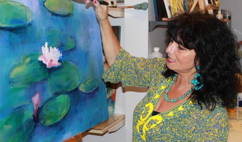 Cristina Vaudo aan het werk (Foto en tekst Bram Poldervaart)