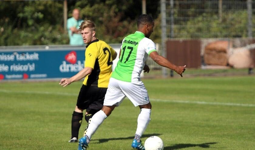 Felino Jardim maakte zaterdag één van de treffers in het met 4-1 gewonnen duel met Nootdorp.