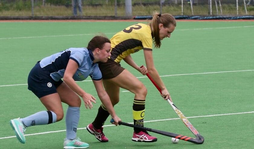 De hockeysters van HV Spijkenisse kwamen zondag niet verder dan een gelijkspel in het duel bij HC Voorne.