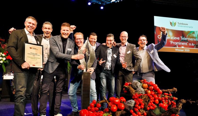 Telersvreniging Prominent, winnaar van de 34e Tuinbouw Ondernemersprijs.