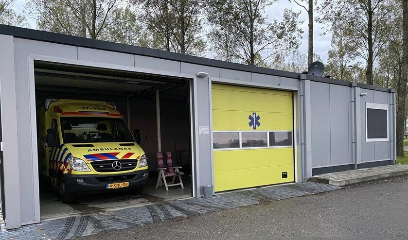 <p>De ambulancepost bij de N57 (Foto: Wil van Balen)</p>