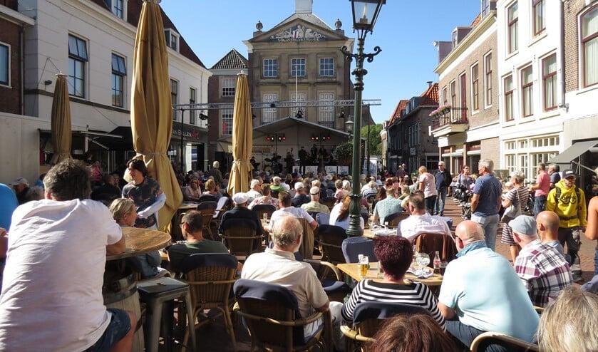 <p>Archieffoto Markt in Brielle</p>